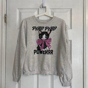H&M Kids Kitten Smocked Sweatshirt